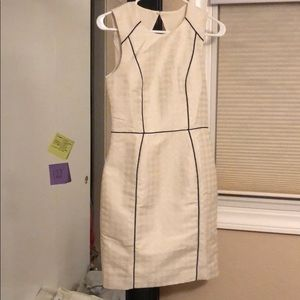 H&M cream/white fitted dress